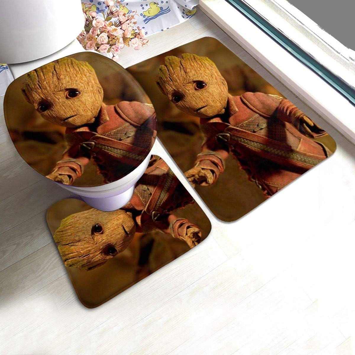 Guardians of The Galaxy Groot Bath Mat 3 Piece Set