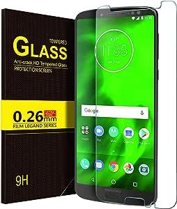 لاصقة حماية زجاجية شفافة لهاتف موتورولا موتو جي 6