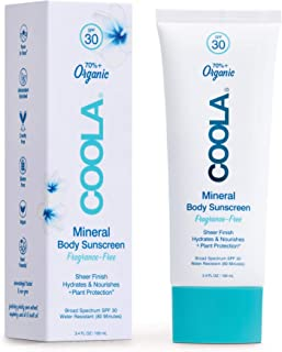 product image for COOLA Organic Mineral Sunscreen & Sunblock Body Lotion, Skin Care for Daily Protection, Broad Spectrum SPF 30, Reef Safe, Fragrance Free