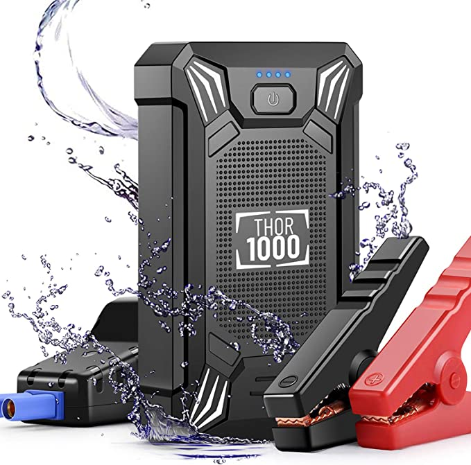 Phone Charger YANXUAN Car Jump Starter Battery Charger Mini Compass Peak 600A 13600 mAh 12V Auto Battery Booster Power Bank with LED Flashlight