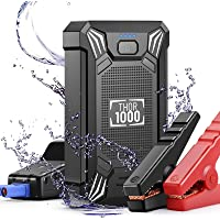 Car Battery Jump Starter Portable - 600A Peak Waterproof 12V Portable Battery Booster Pack (up to 4.0L Gas Or 2.0L…