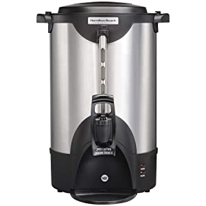 Hamilton Beach Commercial 40 Cup Stainless Steel Coffee Urn Double Wall, 120V, NSF Certified (HCU040S)