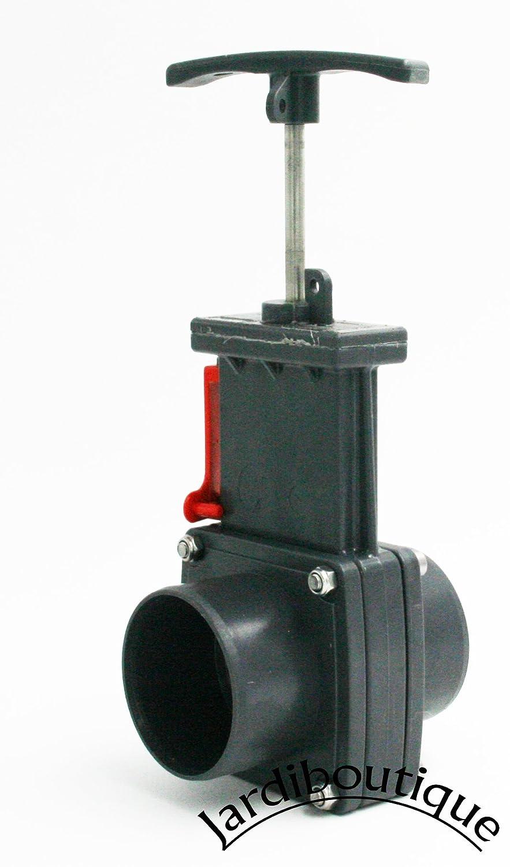 Válvula PVC presión–válvula Guillotine PVC presión a pegar FF Ø50 sas mv
