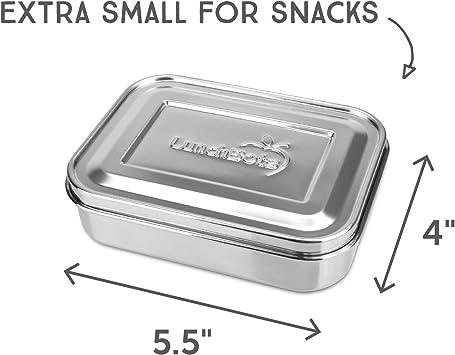LunchBots Pequeño Recipiente Envasador de Snacks de Proteína (470 ml), apto para lavavajillas y duraderond Durable