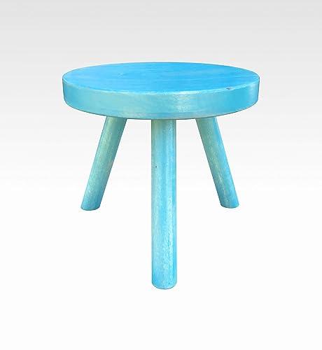 Admirable Amazon Com Small Wood Three Legged Stool Modern Plant Inzonedesignstudio Interior Chair Design Inzonedesignstudiocom