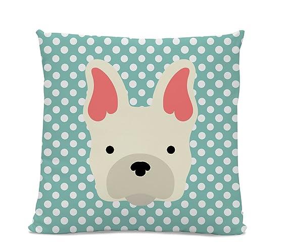 Amazon French Bulldog Pillow Cute Dog Pillow Teal Polka Dot Cool Decorative Pillows Dogs