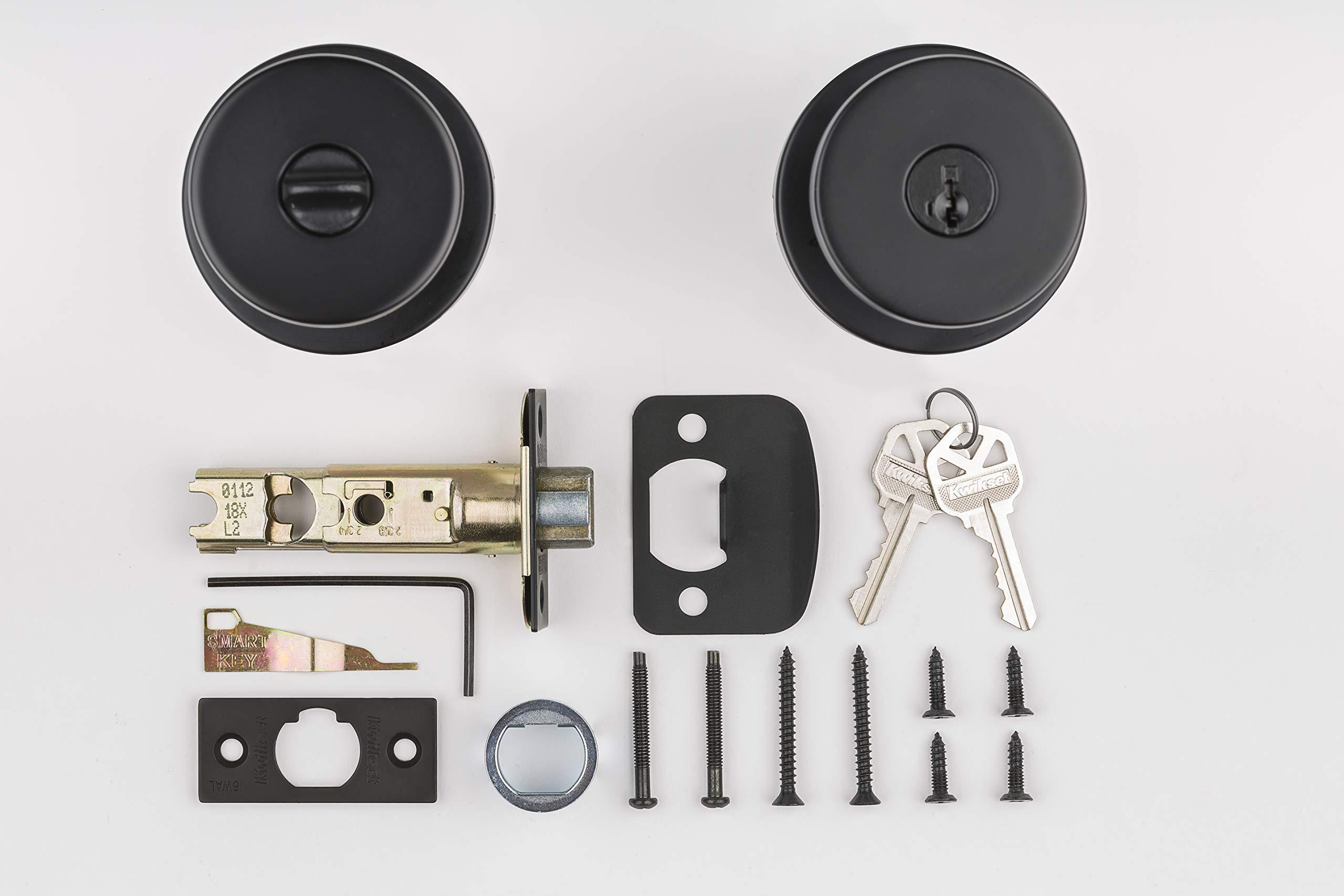 Kwikset 97402-854 Pismo Keyed Entry Door Knob Featuring SmartKey Security Iron Black by Kwikset (Image #7)