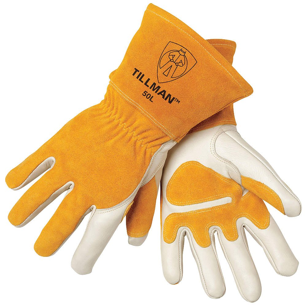 Tillman leather work gloves - John Tillman And Co 50xl Top Grain Leather Mig Gloves With Split Leather Palm Reinforcements Split Leather Back Fleece Lining Seamless Forefinger And