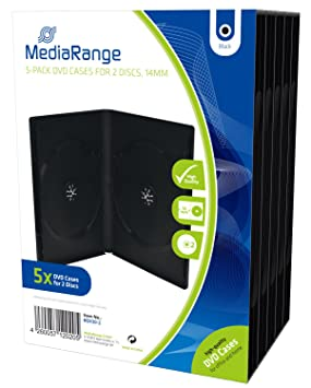 MediaRange BOX30-2 estuche de CD y DVD - Funda (Negro, De ...