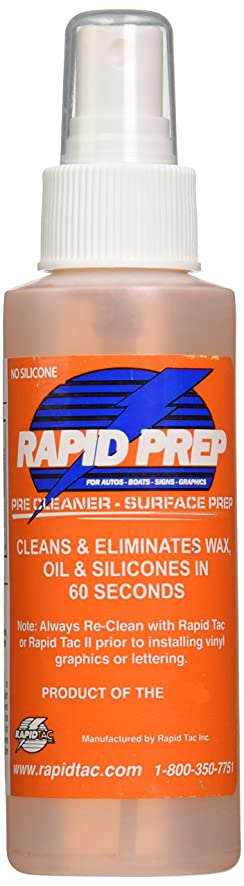 Amazoncom Rapid Tac Rapid Prep Surface Cleaner For Vinyl - Decal graphics inc