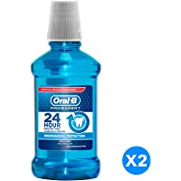 Oral B Pro-Expert Professional Protection Fresh Mint Mouthwash, Dual Pack, 250 ml