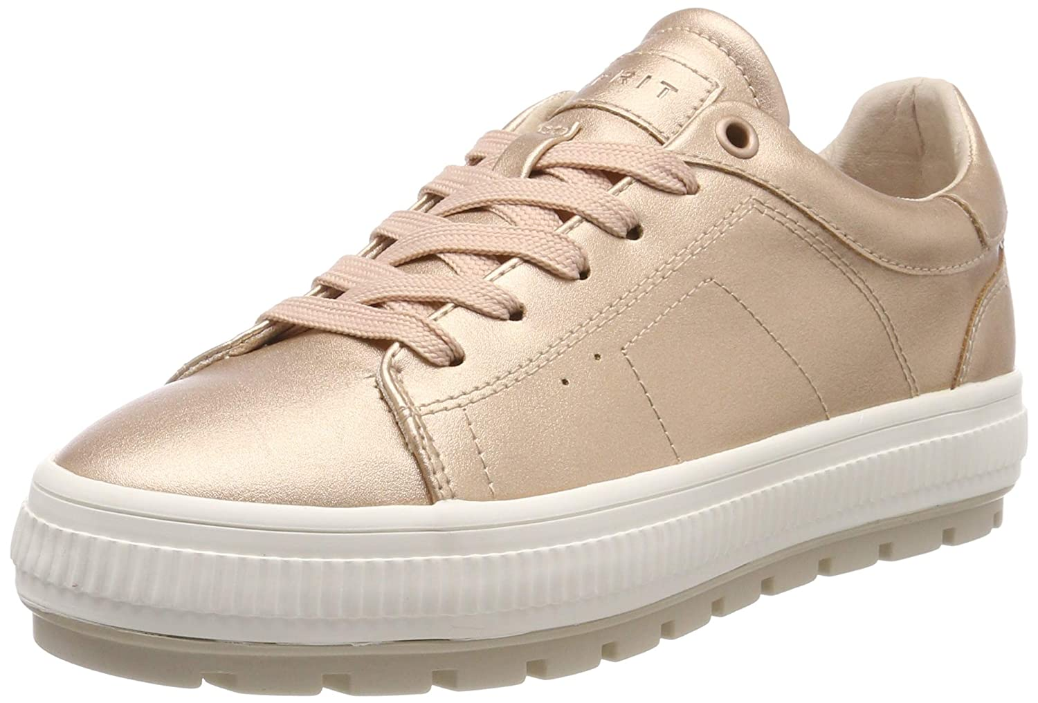 Pink (Nude 685) ESPRIT Women's Filo Platmet Lu Low-Top Sneakers