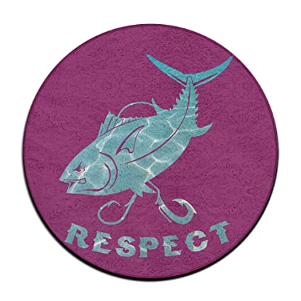 Respect The Bluefin Round Area Floor Mats Entrance Entry Way Front Door Mat  Ground 23.6 Inch