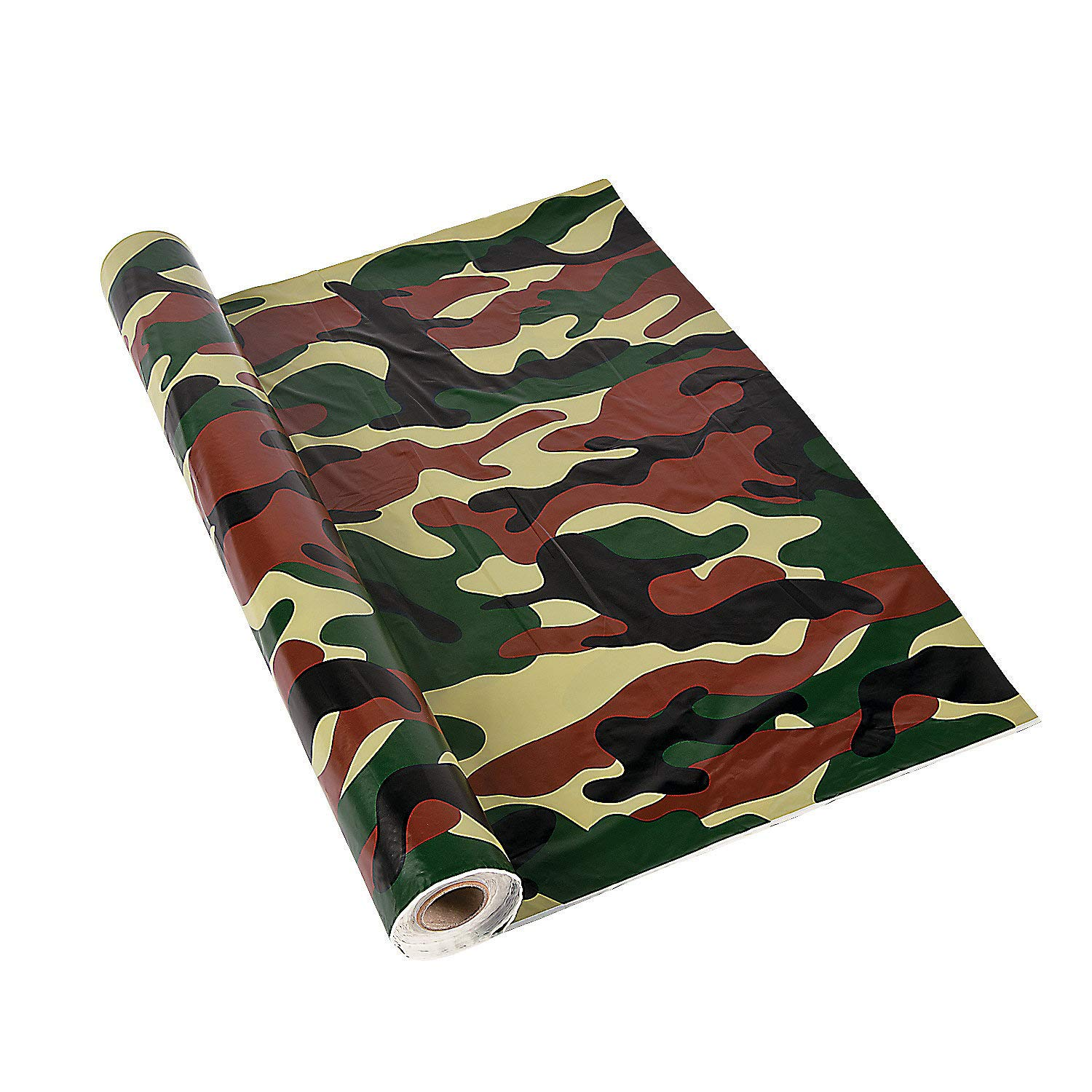 Fun Express - Camo Tablecloth Roll - Party Supplies - Table Covers - Print Table Rolls - 1 Piece