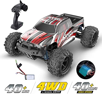 Amazon Com Ddt 1 18 Remote Control Car High Speed Rc Cars 40 Mph 4wd Monster Trucks Racing 2 4ghz All Terrain Toy Trucks With 1 Rechargeable Batteries For Kids Adults Sports Outdoors