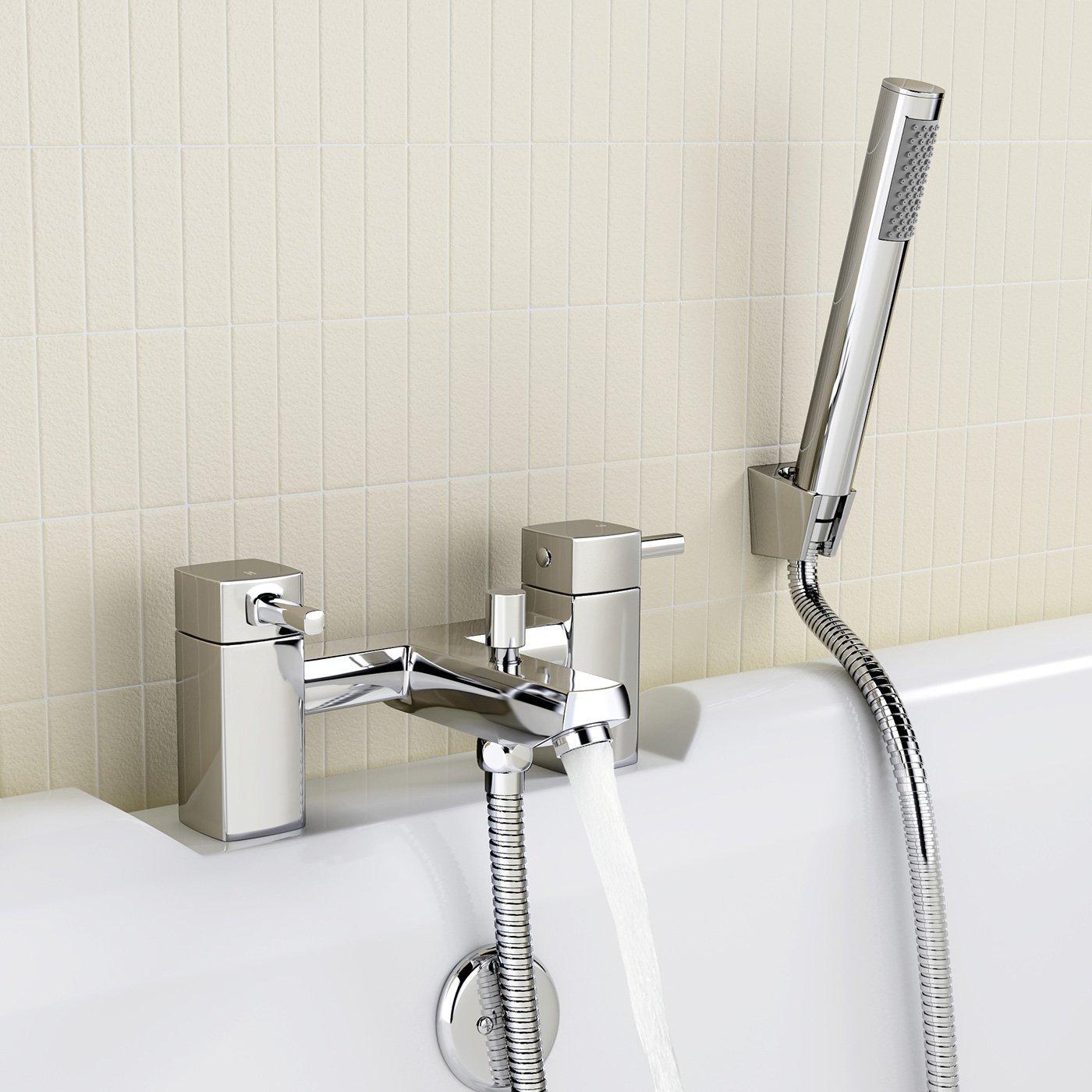 iBath robinet m/élangeur de lavabo Avec Bec de remplissage bain douche Ensemble de t/êtes de Tp67