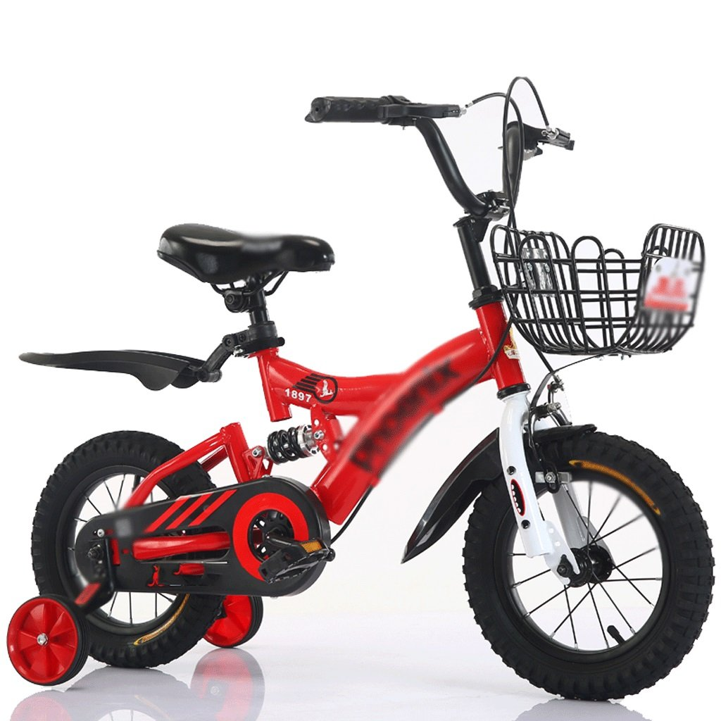 自転車 Children's Damping Bicycle 2-3-4-6-7-8-9-10 Years Old Baby Bike 12141618 Inches Men And Women (サイズ さいず : 12 inch) B07F12W71L12 inch
