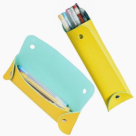 Amazon.com: Sinhme - Estuche portátil de piel de PVC, diseño ...