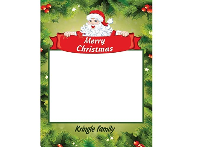 Amazon Com Large Custom Santa Claus Photo Booth Frame Prop Merry
