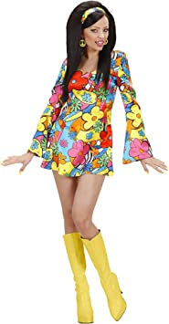 WIDMANN Widman - Disfraz de hippie años 60s para mujer, talla L ...