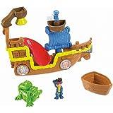 Jake y los piratas - Set de juego, barco pirata para el baño (Mattel X4987)