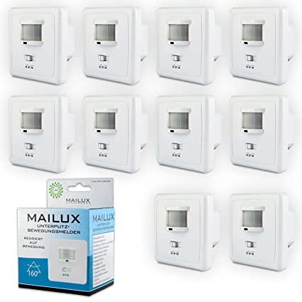 Mailux BMS10724 sensor de movimiento | Colour blanco | De pared | Instalación en pared |