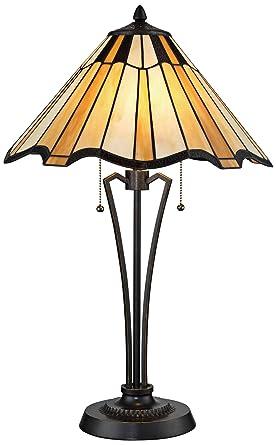 Lite Source Florence Bronze Tiffany Art Nouveau Table Lamp