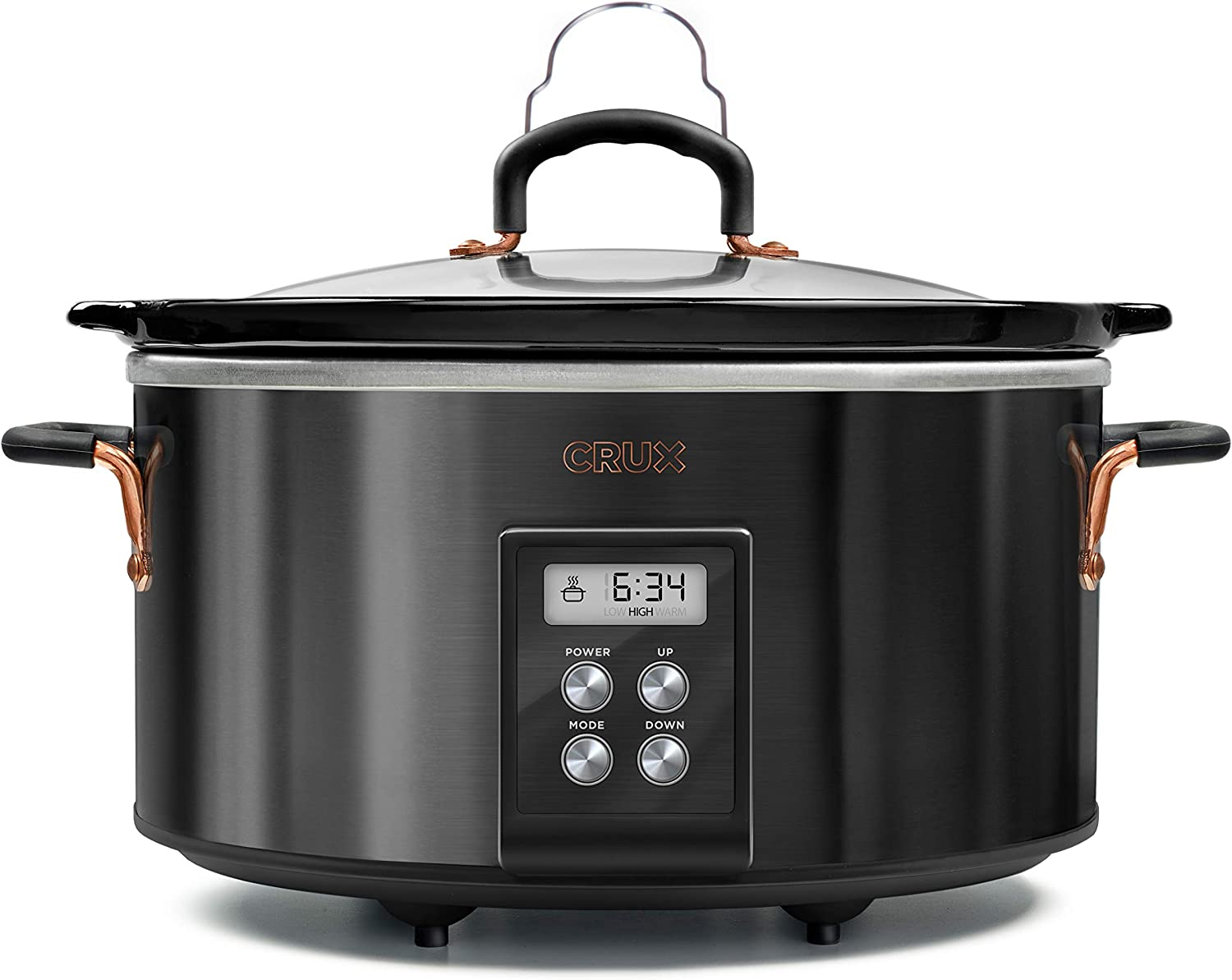 CRUX (14681) 6 QT Programmable Slow Cooker