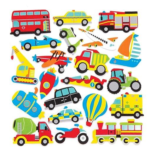 Amazon.com: Baker Ross Transport Foam Stickers (Pack of 120 ...