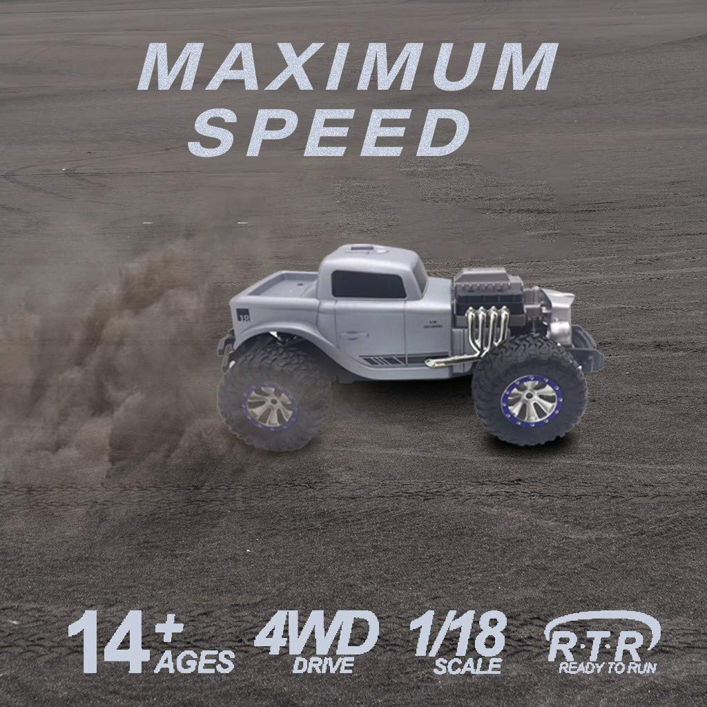1/18 Scale RC Rock Crawler 4WD Off Road RC Truck 2.4Ghz 20KM/H High Speed Remote Control Monster Truck Desert Buggy RC Car for Ages 14+ by DaoAG (Image #6)