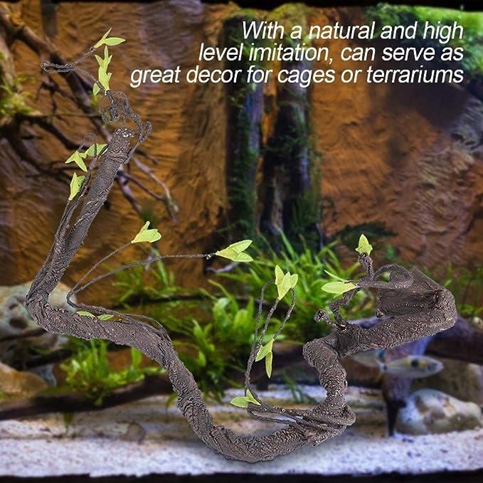 Reptiles Artificiales Vine Climber, Selva Bosque Curva Rama Terrario Jaula DecoracióN para Lizard Frog Snake(S): Amazon.es: Productos para mascotas