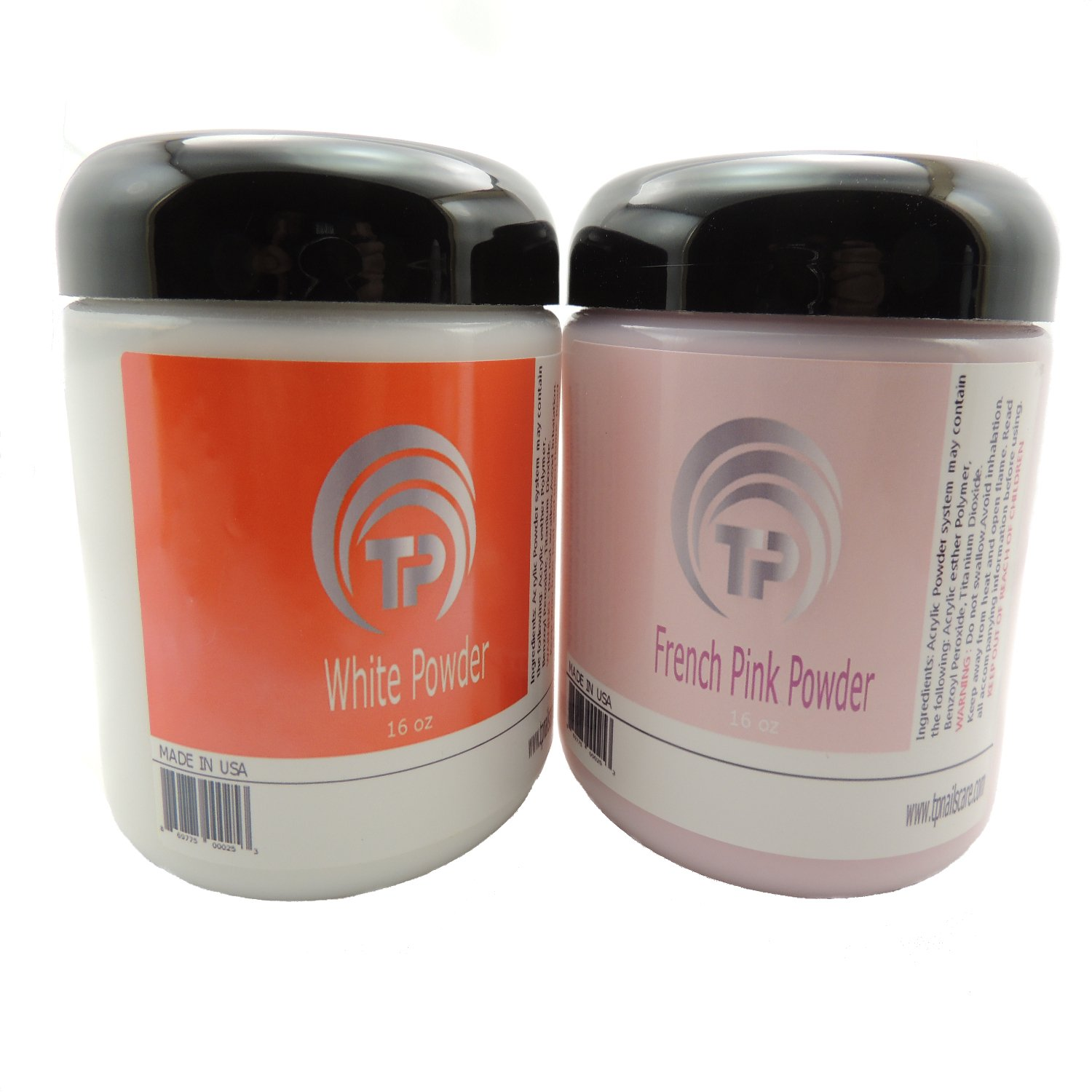 French Manicure Dipping Powder The professional Pink and White Dip Powder Set. (16 oz) by TP Nails Care