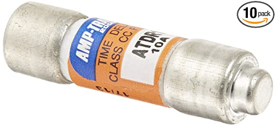 Mersen ATDR10 600V 10A Cc Time Delay Fuse, 10-Pack