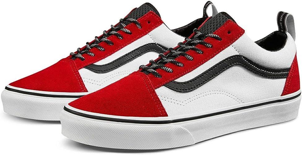 vans blanc rouge