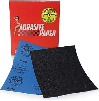 50 Sheets 9 in x 11 in Multi Grit 1000 Grit Insta Finish Sonbateh Wet//Dry Sheet Sandpaper KAS-2021