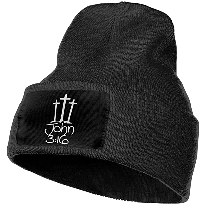 328aa92d6b193 Image Unavailable. Image not available for. Color  Crosses John 316 Christian  Jesus Mens Beanie ...