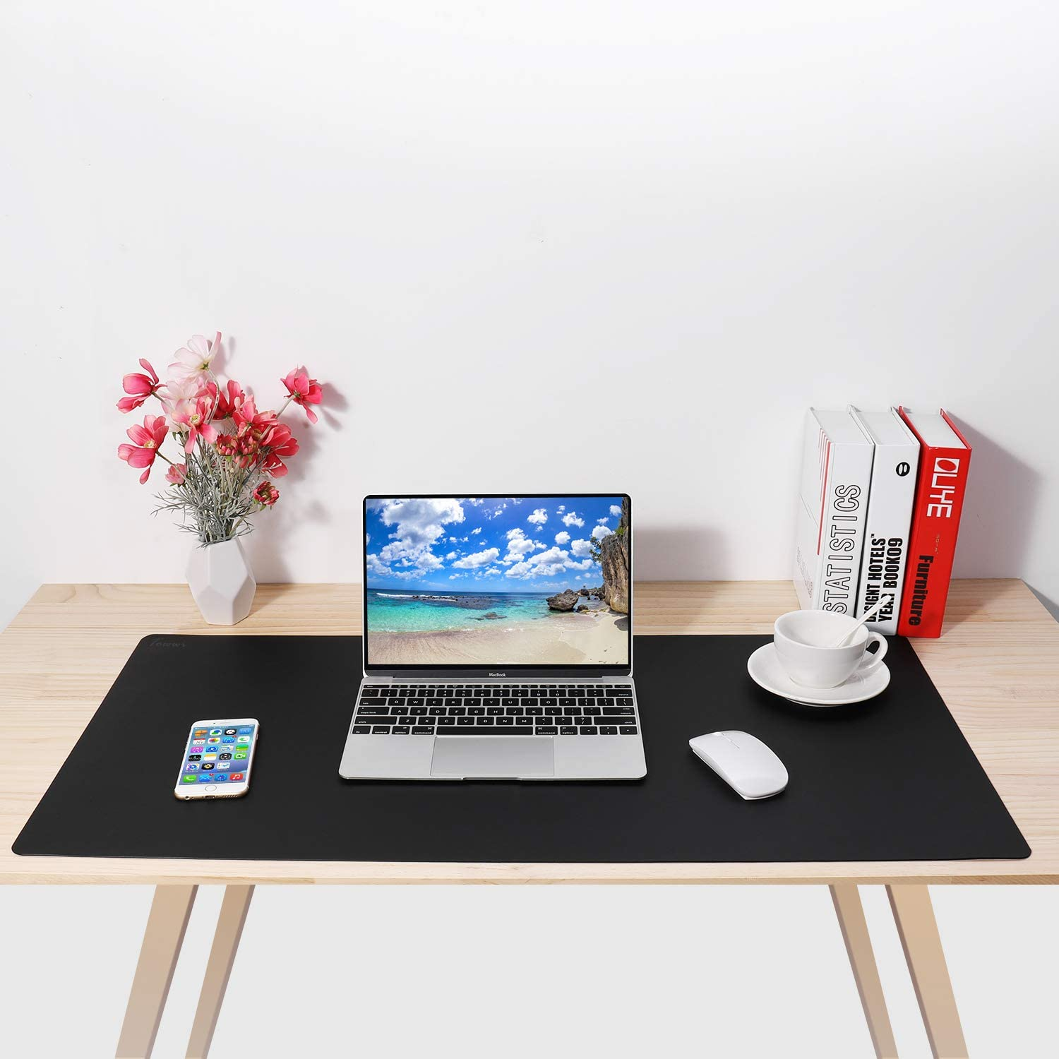 """TOWWI Leather Desk Pad Protector 36""""x17"""" Desk Blotter Pad, Waterproof Writing Desk Accessories : Office Products"""