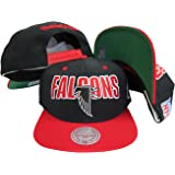 e082c073844 Atlanta Falcons Black Red Two Tone Plastic Snapback Adjustable Plastic Snap  Back Hat Cap
