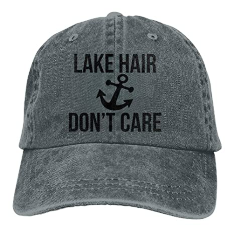 Huabuqi Lake Hair Dont Care Gorro de Mezclilla Ajustable Unisex ...