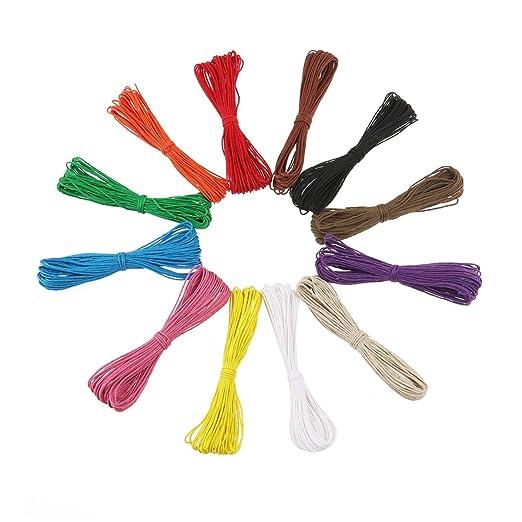 23 opinioni per Tinksky 12 colori 10M 1mm cerato in cotone corde stringhe corde per fai da te