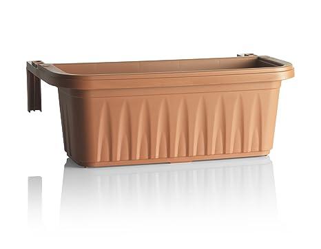 Fioriere In Plastica Per Balconi.Bama Fioriera Rondine Di 50 Cm Da Balcone Terracotta Amazon It
