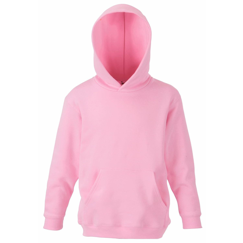 12-13 Fruit of the Loom Childrens Unisex Hooded Sweatshirt//Hoodie Sky Blue