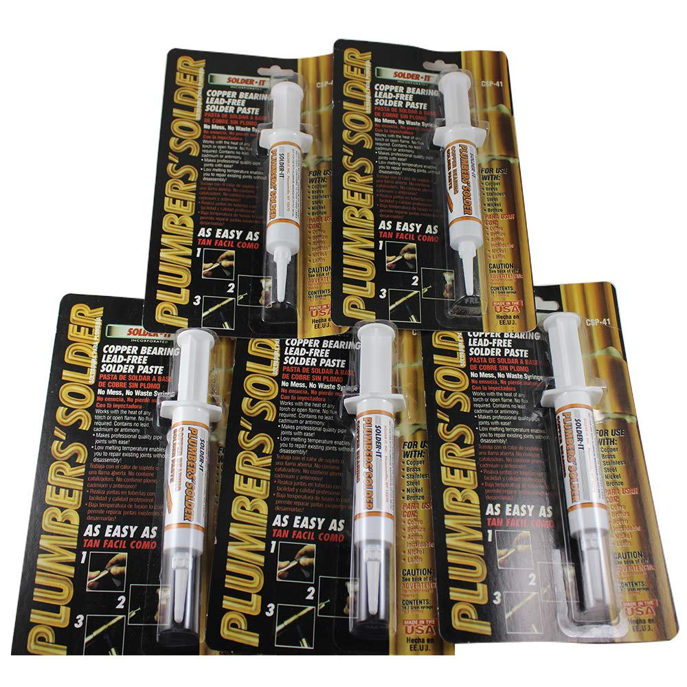 Solder-it CSP-41 Plumbers solder Copper bearing Lead-Free Solder Paste - 5 Pack - - Amazon.com