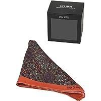 Hola Señor Orange color Pocket Square from Indian Design Collection