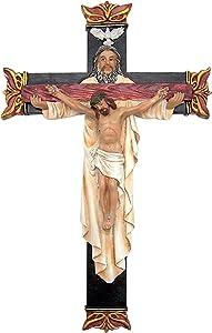 Religious Holy Trinity Wall Crucifix