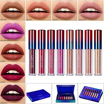 New Matte Liquid Lipstick 16 Colors Waterproof Velvet Nude Purple Black Red Lip Tint Soft Lipgloss Lips Cosmetics Beauty & Health