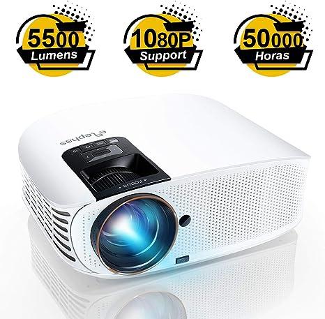Proyector ELEPHAS, Proyector de video HD de 5500 lúmenes Proyector ...
