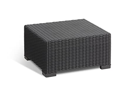 California Backyard Patio Furniture.Keter California All Weather Outdoor Patio Coffee Table In A Resin Plastic Wicker Pattern Graphite
