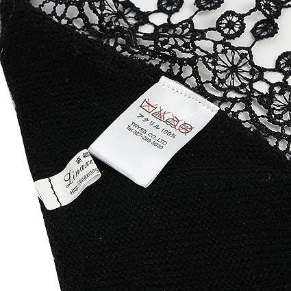 EOZY Écharpe Foulard Frange Femme Couleur Unie Chaud Dentelle Triangle  Brun  Amazon.fr  Vêtements et accessoires 28f8794ffcd