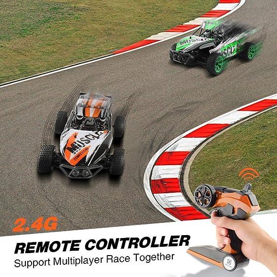 GizmoVine RC Coche Teledirigido 1/18 Coche Radio Control 2.4GHZ 4WD de Alta Velocidad 20KM/H Arena Coche de Carreras Eléctric Vehículo con Batería ...